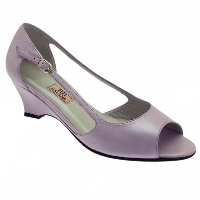 H.b.shoes Lilac Peep Toe Side Out
