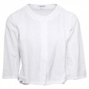 Alice Collins Linen 3/4 Sleeve Cropped Jacket