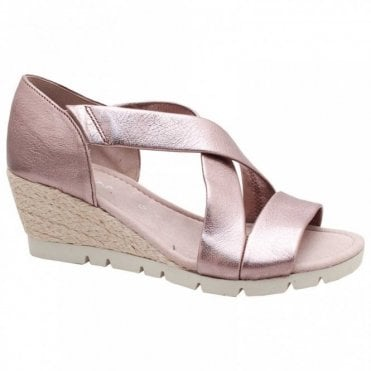 Lisette Crossover Wedge Sandal