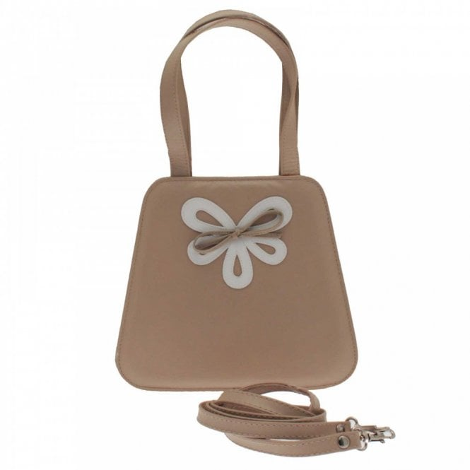 Ultimate Collection Little Beige Contrast Bow Clutch Bag
