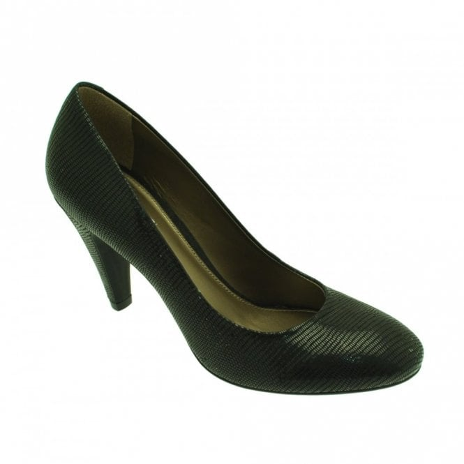 Geox Lizard Effect Classic Heeled Court Shoe