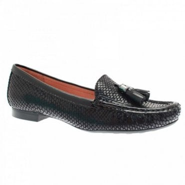 Lizard Skin Effect Toggle Moccasin Shoe