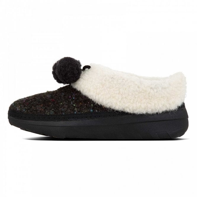 Fitflop™ Loaff Felt Slippers With Pom Poms