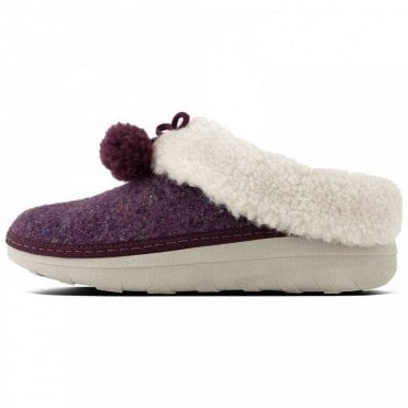 Loaff Felt Slippers With Pom Poms