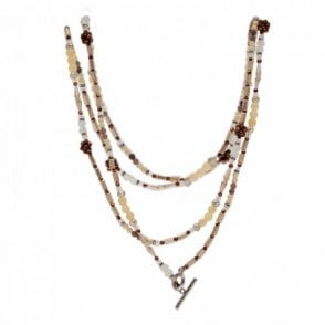 Nour London Long Beaded Strand Necklace