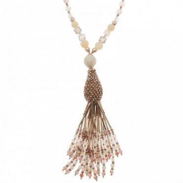 Long Beads Tassle Necklace