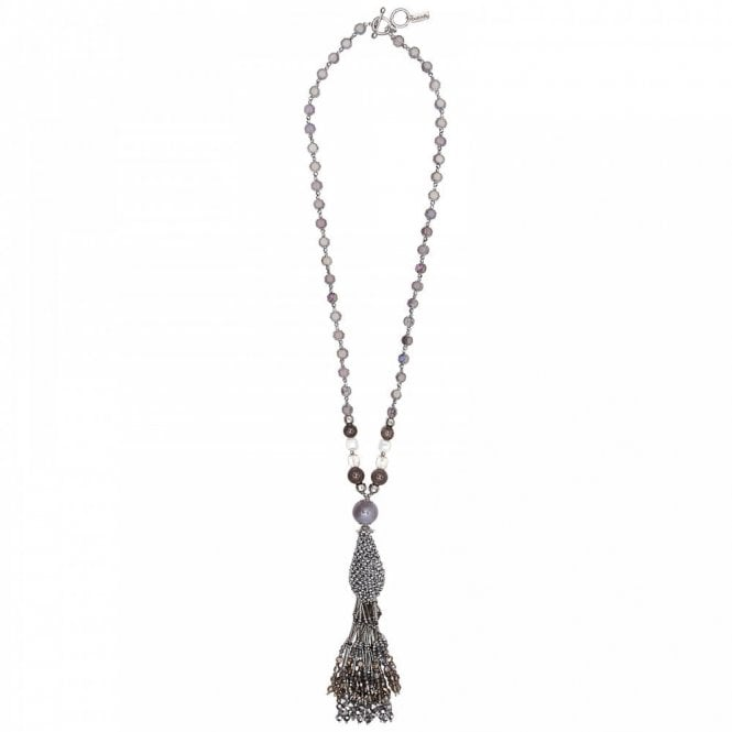 Butterfly Long Beads Tassle Necklace