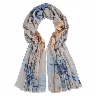 Fraas Long Bold Multi Print Scarf