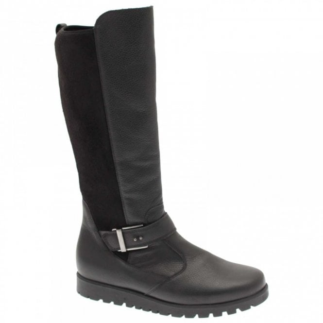 Waldlaufer Long Boot With Stretch Back & Side Zip