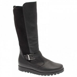 Long Boot With Stretch Back & Side Zip