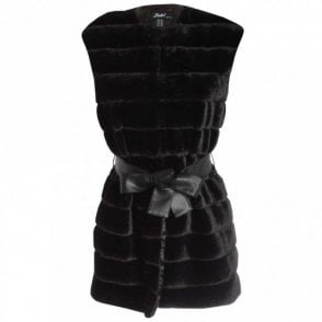 Badoo Long Faux Fur Sleeveless Gilet