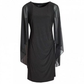 Long Floating Sleeve Shift Dress