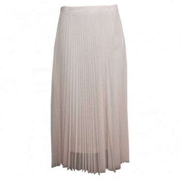 Long Pleated Sheer Skirt