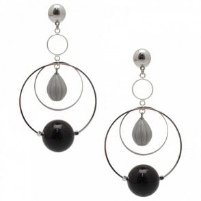 Long Resin Circle Earrings