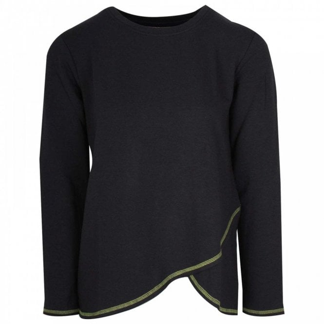 Thought Long Sleeve Blue Orgainc Cotton Jumper