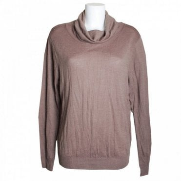 Long Sleeve Distressed Look Polo Jumper