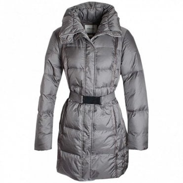 Long Sleeve Down Jacket With Belt