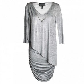 Long Sleeve Drap Dress