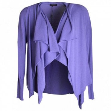 Long Sleeve Drape Collar Knit Jacket
