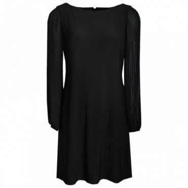 Long Sleeve Dress With Rounded Neck