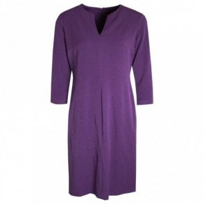 Long Sleeve Dress With V-cut Neckline
