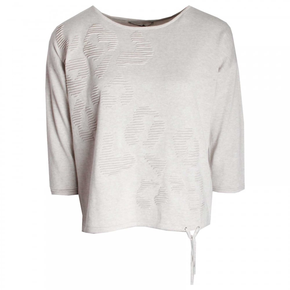 30c4912c213ade Long Sleeve Fine Knit Jumper By Oui At Walk In Style