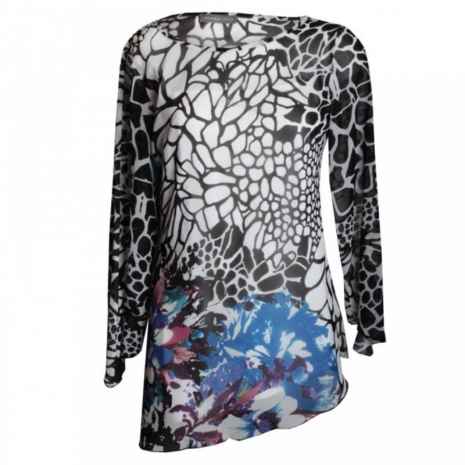 Michaela Louisa Long Sleeve Floral Print Tunic Top