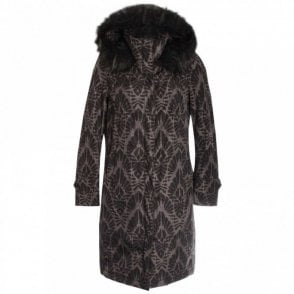 Long Sleeve Fur Hood Padded Coat