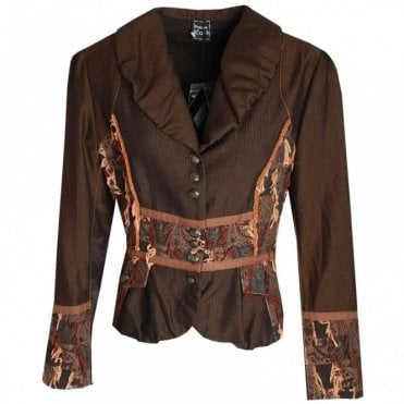 Long Sleeve Jacket With Contrast Fabric