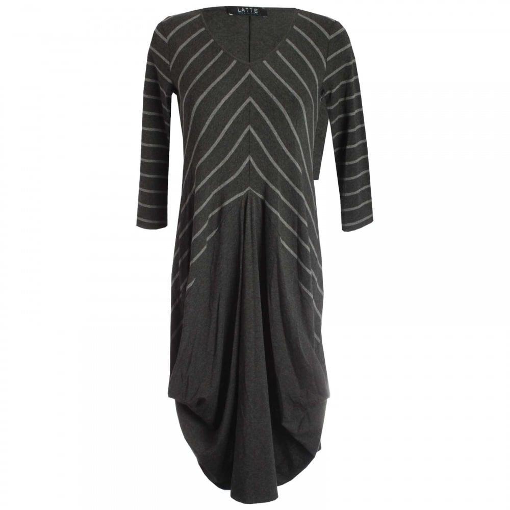 Long Sleeve Jersey Dress By Latte At Walk In Style