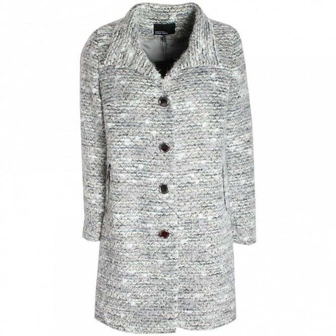 Marie Mero Long Sleeve Knitted Button Up Jacket