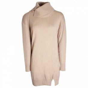 Long Sleeve Knitted Polo Neck Jumper