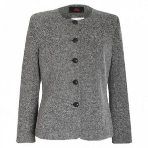 Long Sleeve Lined Tweed Jacket