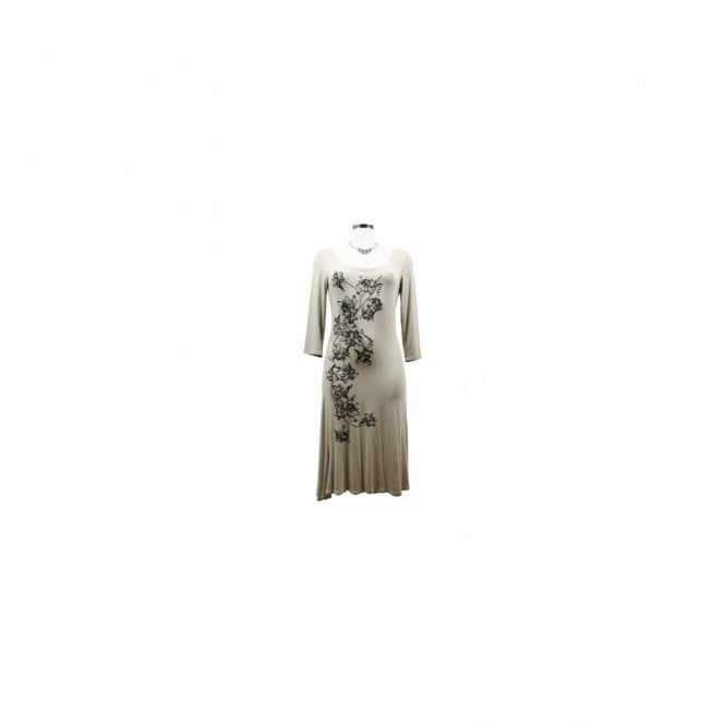 Isabel De Pedro Long Sleeve Printed Design Jersey Dress