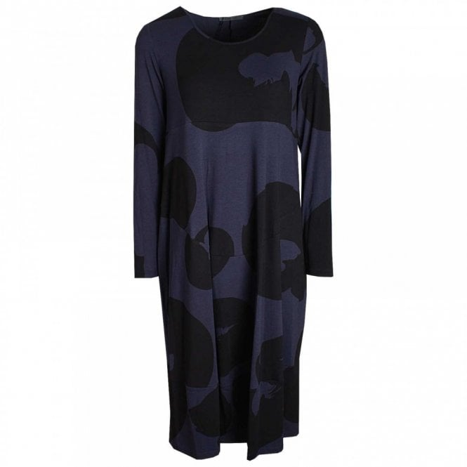 Crea Concept Long Sleeve Printed Jersey Dress