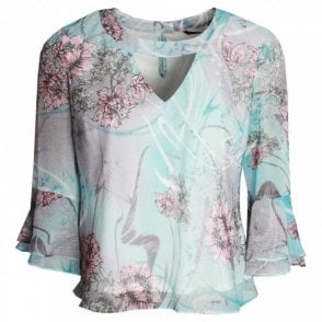 Hudson & Onslow Long Sleeve Printed Top