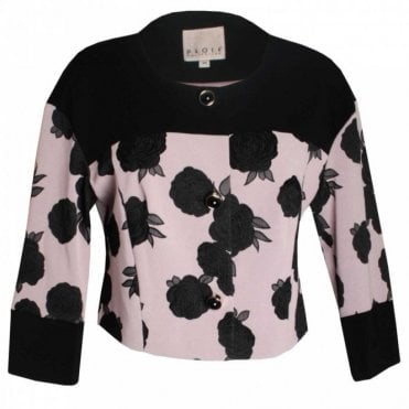 Long Sleeve Roses Design Box Jacket
