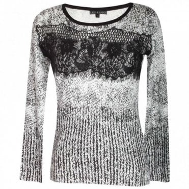 Long Sleeve Round Neck Lace Jumper