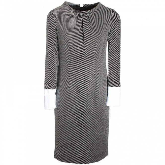 Badoo Long Sleeve Shift Dress Detachable Cuffs