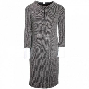Long Sleeve Shift Dress Detachable Cuffs