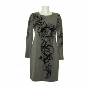 Long Sleeve Swirl Print Dress