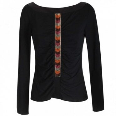Long Sleeve Top With Delicatetrim