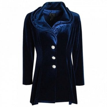 Long Sleeve Velvet Jacket