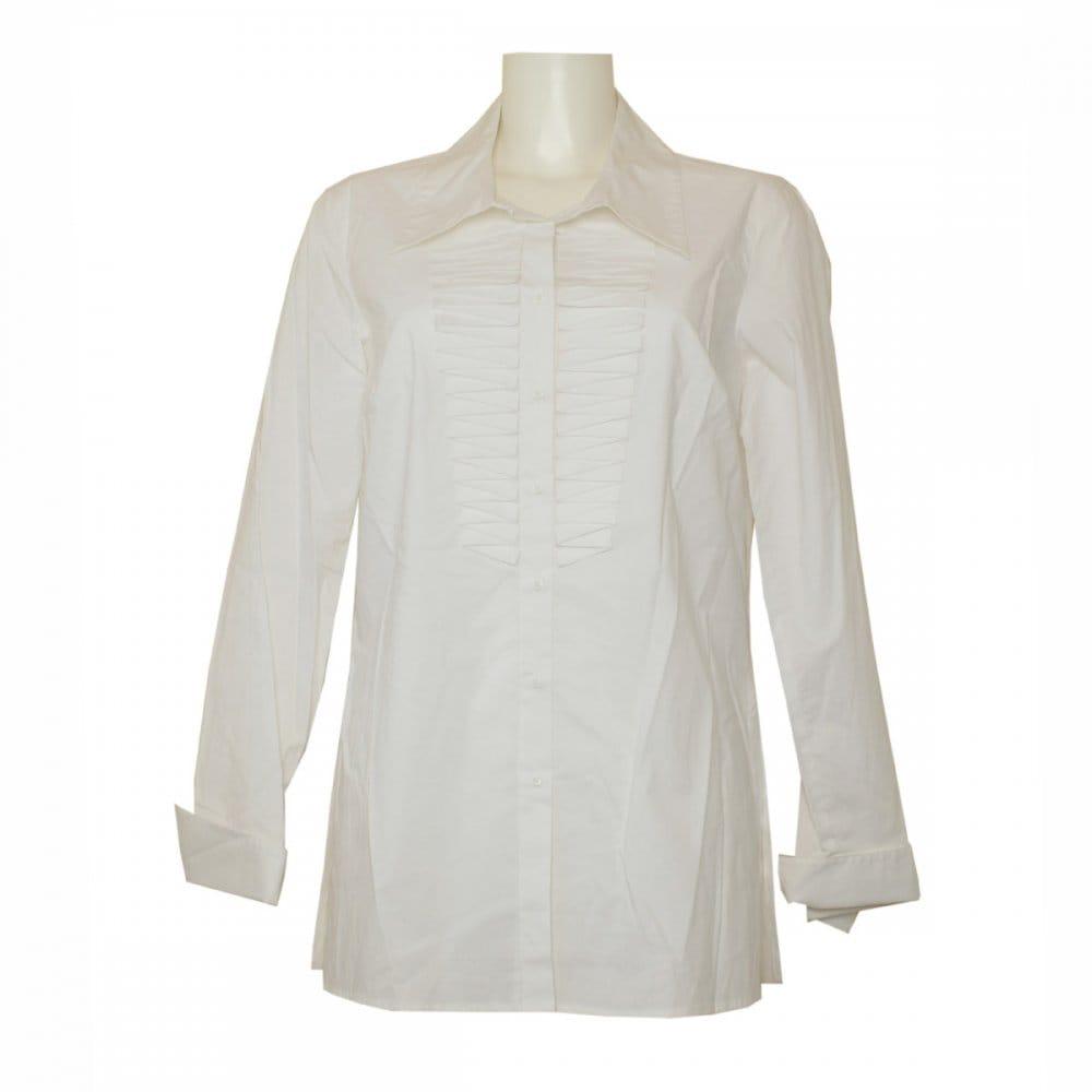 Apanage Long Sleeve Zigzag Detail White Blouse From Walk Zig Zag