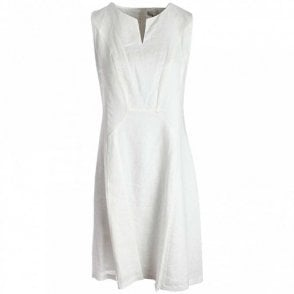 Oui Long Sleeveless Linen Dress