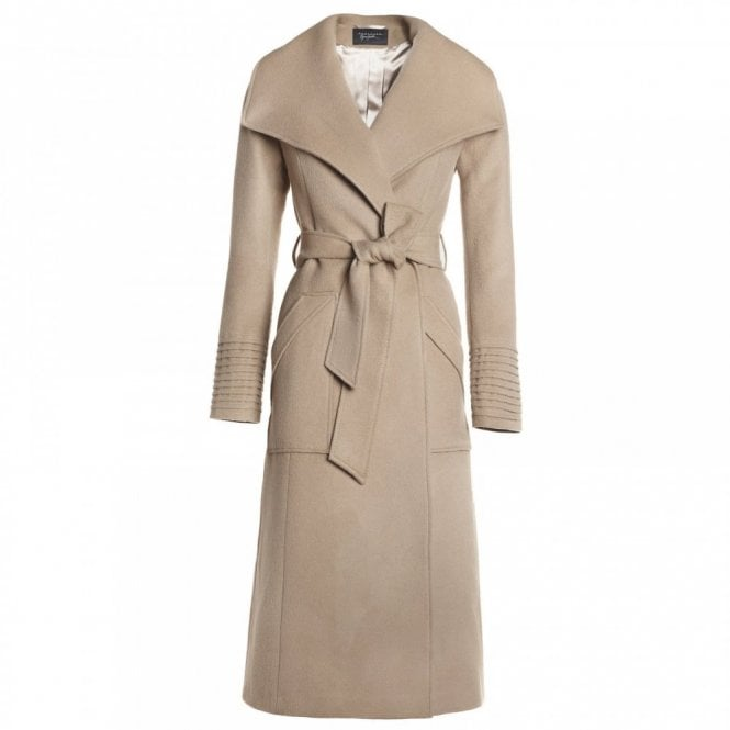 Sentaler Long Wide Collar Meghan Markle Wrap Coat