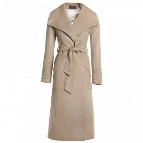 Long Wide Collar Meghan Markle Wrap Coat