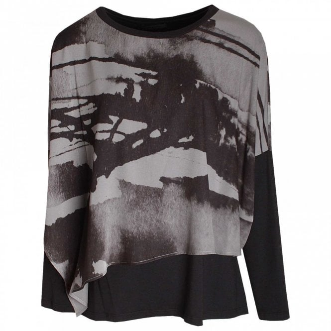 Crea Concept Loose Layered Long Sleeve Top