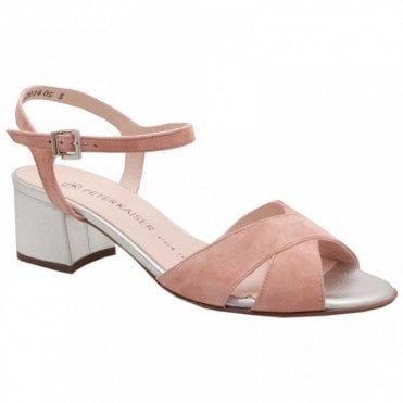 Low Block Heel Ankle Strap Sandal