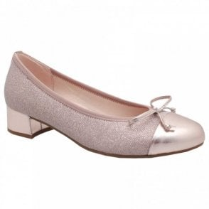Low Heel Closed Toe Court Shoe
